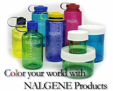 Color your world with NALGENE Products