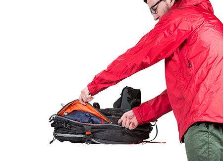 how to carry helmet backcountry